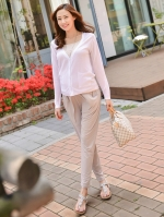 (เกาหลี) กางเกงคนท้องผ้ายืด นิ่ม สวมใส่สบายมากๆ มีกระเป๋า 2 ข้าง สามารถใส่ตอนท้องหรือหลังคลอดก็ได้ค่ะ