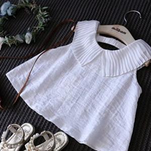 เสื้อผ้าพริ้วปกเสื้อผ้าชีฟอง**สีขาวราคาส่งยกแพ็ค 5 ชุด/950 บาท