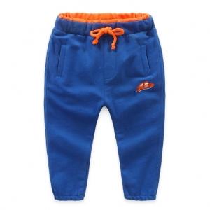 กางเกงวอร์มผ้าฟลีซ( Fleece) ใส่แล้วเท่ห์จุง สีน้ำเงิน ไซส์ 3T 4T 6T 7T 8T