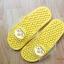 K016-YL **พร้อมส่ง** (ปลีก+ส่ง) รองเท้านวดสปา เพื่อสุขภาพ ปุ่มเล็ก ลายโพโรโร่ สีเหลือง thumbnail 2