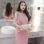 ชุดเดรสสวยๆ ผ้าคอตตอนฉลุลายตามแบบ สีชมพู ตัวเดรสด้านในแขนกุด thumbnail 6
