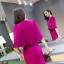 ชุดเดรสแขนกุด ผ้าคอตตอนผสม spandex ยืดหยุ่นได้ดี สีชมพู ทรงตรง thumbnail 12