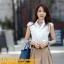 เสื้อเกาหลี style good you เสื้อเชิ๊ตสีขาว คอแหลมแต่งลูกไม้ช่วงบน แต่งระบายลูกไม้ด้านหน้า ติดกระดุมผ่าหน้า สวยเหมือนแบบ พร้อมส่ง thumbnail 1