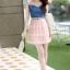 ชุดเดรสน่ารัก เดรสตัวเสื้อผ้ายีนส์ ช่วงอกและไหล่ ผ้าลูกไม้แบบนิ่มสีชมพู ยืดหยุ่นได้ดี กระโปรงผ้าไหมแก้วสีชมพู thumbnail 7