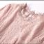 ชุดเดรสลูกไม้ สีชมพูกะปิ เข้ารูปช่วงเอว กระโปรงทรงเอ รอบคอเสื้อเป็นผ้าถักโครเชต์ thumbnail 4