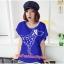 เสื้อยืดแฟชั่น ผ้านุ่ม ลาย Love Me (Size M:32-36 นิ้ว) สีน้ำเงิน thumbnail 1