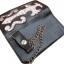 กระเป๋าสตางค์ยาว 2 พับ สีดำขอบน้ำตาล ลายดาบ thumbnail 6