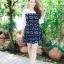 เสื้อผ้าแฟชั่น สุด Chic ชุดเดรสเกาหลี จั๊มแขน รหัส RN46_2 thumbnail 1