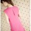 DRESS ชุดเดรสแฟชั่น ผ้าไหมผสม สีชมพู สดใส คอวี แต่งชายผ้า ชุดเดรสใส่เที่ยว ใส่ทำงาน น่ารักมากๆ thaishoponline thumbnail 4