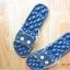 K020-ฺDBL **พร้อมส่ง** (ปลีก+ส่ง) รองเท้านวดสปา เพื่อสุขภาพ ปุ่มใหญ่สลับเล็ก (การ์ตูน) สีกรมท่า ส่งคู่ละ 150 บ. thumbnail 5