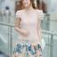 ชุดเดรสเกาหลี Brand Ai Fei ชุดเดรสสั้น ตัวเสื้อผ้าถักลายผีเสื้อ สีชมพูโอรส กระโปรงผ้าชีฟองลายดอกไม้ และผีเสื้อ สวยมากๆครับ (พร้อมส่ง) thumbnail 3