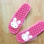 K011-DPK **พร้อมส่ง** (ปลีก+ส่ง) รองเท้านวดสปา เพื่อสุขภาพ ปุ่มเล็ก ลายกระต่าย สีชมพู thumbnail 3