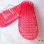 K021-RD**พร้อมส่ง** (ปลีก+ส่ง) รองเท้านวดสปา เพื่อสุขภาพ สีแดง ปุ่มเล็ก(ใส)แบบนิ่ม ส่งคู่ละ 120 บ. thumbnail 4