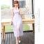 ชุดเดรสชีฟอง สีม่วงอ่อน แขนกุด แฟชั่นเกาหลีมาใหม่ สวยมากๆ thumbnail 4