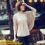 เสื้อยืดแฟชั่น แฟชั่นเกาหลี แขนค้างคาว สีแอพพริคอท ใส่สบาย ใส่เที่ยว ใส่ทำงาน ชิวๆ เสื้อผ้าแฟชั่นราคาถูก thaishoponline (พร้อมส่ง) thumbnail 1