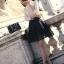 เสื้อผ้าแฟชั่น ผ้าคอตตอนผสม สีครีม ยืดหยุ่นได้ แขนยาว ประดับ มุกสีขาว คริสตรัลใส thumbnail 4