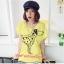เสื้อยืดแฟชั่น ผ้านุ่ม ลาย Love Me (Size M:32-36 นิ้ว) สีเหลือง thumbnail 1