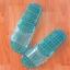 K012-DBL**พร้อมส่ง** (ปลีก+ส่ง) รองเท้านวดสปา เพื่อสุขภาพ ปุ่มเล็ก (ใส) สีฟ้าอมเขียว ส่งคู่ละ 80 บ. thumbnail 4