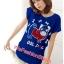 เสื้อยืดแฟชั่น ผ้านุ่ม ลาย Cool Dog (Size M:36 นิ้ว) สีน้ำเงิน thumbnail 1