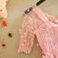 ชุดเดรสน่ารักออกงาน ไหล่เฉียง ตัวชุดผ้าโปร่งปักลายดอกไม้ สีชมพู ที่เอวแต่งด้วยมุก รูปดอกไม้ thumbnail 8