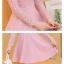 ชุดเดรสสวยๆ เดรสผ้าลูกไม้ สีชมพูกะปิ แขนยาว ผ้าลูกไม้ยืดหยุ่นได้ดี thumbnail 8
