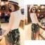 แฟชั่นเกาหลี set เสื้อและกางเกงสุดเก๋ สวยมากๆ thumbnail 3