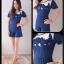เสื้อผ้าแฟชั่น สุด Chic จั๊มสูท (ชีฟอง) ปักใบไม้ รหัส SU113_4 (Size S) thumbnail 1