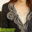 เสื้อเกาหลี style good you เสื้อคลุมผ้า เนื้อผสมสีดำ แขนยาวแต่งผ้าซีฟองที่ขอบวนดอกกุหลาบ สวยเหมือนแบบ100% ครับ พร้อมส่ง thumbnail 7