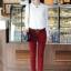 เสื้อแฟชั่น เสื้อเกาหลี เสื้อทำงาน ด้านหน้าเป็นผ้าลูกไม้ คอกลม เสื้อเป็นผ้ามัน ประดับพลอยที่คอ ซิปหลังครึ่งตัว เสื้อสีขาว สวยมากๆ (พร้อมส่ง) thumbnail 4