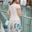 ชุดเดรสเกาหลี Brand Ai Fei ชุดเดรสสั้น ตัวเสื้อผ้าถักลายผีเสื้อ สีชมพูโอรส กระโปรงผ้าชีฟองลายดอกไม้ และผีเสื้อ สวยมากๆครับ (พร้อมส่ง) thumbnail 4