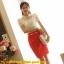 เสื้อเกาหลี style good you (แบรนด์แท้) เสื้อผ้าลูกไม้สีขาว แต่งระบายด้านหน้า ปักมุกที่ตัวเสื้อ แขนตุ๊กตามีซับในสวยเหมือนแบบครับ thumbnail 3