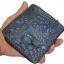 กระเป๋าสตางค์ 2 พับ หนังจระเข้เเท้ หนังต่อเย็บมือ สีน้ำเงิน thumbnail 4