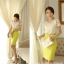 เสื้อทำงาน แฟชั่นเกาหลี ผ้าลูกไม้สุดหรู ลายดอกไม้สีเหลือบทอง คอเสื้อแต่งด้วยมุก และหมุดสีทอง พร้อมส่ง thumbnail 6
