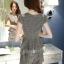 แฟชั่นเกาหลี set เสื้อ และกางเกง สีเทา พร้อมสร้อยคอสุดสวย thumbnail 2