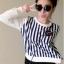 เสื้อแฟชั่น สุด Chic เสื้อแฟชั่น แขนยาว ลายริ้ว รหัส SU9010_2 thumbnail 1