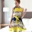 CHU VIVI DRESS ชุดเดรส แฟชั่นเกาหลี แขนกุด ใส่ทำงาน ผ้าชีฟอง ลายดอกไม้ สีเหลือง น้ำเงิน ขาว อัดพลีททั้งชุด แนววินเทจ ใส่ไปงานแต่งงาน พร้อมเชือกผูกเอว สามารถใส่ออกงานได้ สวยมากๆ thumbnail 1