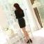 เสื้อทำงาน แขนยาว แฟชั่นเกาหลี ผ้าชีฟอง ปักดิ้นที่คอ สีดำ ใส่สบายสวยมากๆ (พร้อมส่ง) thumbnail 3