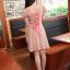 ชุดเดรสสั้น แฟชั่นเกาหลี ใส่ออกงานได้ สีชมพู ผ้าชีฟอง แขนตุ๊กตา โชว์หลัง กระโปรงบาน เป็นชุดเดรสแบบปล่อย สวยน่ารัก ๆ (พร้อมส่ง) thumbnail 3