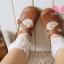 [หมด] ถุงเท้าลายดอกไม้ขอบลูกไม้น่ารัก thumbnail 1