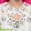 ชุดเดรส ชุดเดรสสั้น แฟชั่นเกาหลี ชุดเดรสลูกไม้ แขนกุด สีขาว น่ารัก ใส่ทำงาน ใส่ไปงานแต่งงาน ใส่เป็นชุดทำงาน สวยมากๆครับ (พร้อมส่ง) thumbnail 6