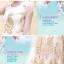 ชุดเดรสออกงาน ชุดเดรสผ้าไหมแก้ว สีครีม ปักด้วยด้ายสีเหลือบทอง ลายนกยูง สวยมากๆ thumbnail 5