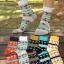 S097**พร้อมส่ง** (ปลีก+ส่ง) ถุงเท้าแฟชั่นเกาหลีผู้ชาย ข้อยาว เนื้อดี งานนำเข้า(Made in china) thumbnail 3