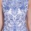 ชุดเดรสยาว Brand เกาหลี ชุดเดรสยาวแขนกุด ตัวเสื้อผ้าไหมสีขาว ปักด้วยด้ายสีน้ำเงิน กระโปรงผ้ามุ้งสีน้ำเงิน สวยมากๆครับ (พร้อมส่ง) thumbnail 6