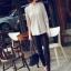 เสื้อยืดแฟชั่น แฟชั่นเกาหลี แขนค้างคาว สีแอพพริคอท ใส่สบาย ใส่เที่ยว ใส่ทำงาน ชิวๆ เสื้อผ้าแฟชั่นราคาถูก thaishoponline (พร้อมส่ง) thumbnail 7