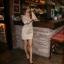 เดรสแฟชั่น เสื้อผ้าแฟชั่น ชุดเดรสสั้นแขนยาว คอปก สี APRICOT แฟชั่นใส่ทำงาน เที่ยว สวยมาก เนื้อผ้าดีมากๆ (พร้อมส่ง) thumbnail 5
