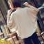 เสื้อยืดแฟชั่น แฟชั่นเกาหลี แขนค้างคาว สีแอพพริคอท ใส่สบาย ใส่เที่ยว ใส่ทำงาน ชิวๆ เสื้อผ้าแฟชั่นราคาถูก thaishoponline (พร้อมส่ง) thumbnail 3