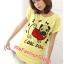 เสื้อยืดแฟชั่น ผ้านุ่ม ลาย Cool Dog (Size M:36 นิ้ว) สีเหลือง thumbnail 1