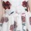 ชุดเดรสสวยๆ ผ้าลูกไม้เนื้อดี สีขาว มีลายดอกไม้ในตัว แขนกุด thumbnail 7