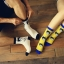 S314**พร้อมส่ง**(ปลีก+ส่ง) ถุงเท้าข้อยาว แฟชั่นเกาหลี มี 12 คู่ต่อแพ็ค พร้อมกล่อง เนื้อดี งานนำเข้า(Made in China) thumbnail 1