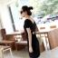 DRESS ชุดเดรสสั้น เปิดหลัง แฟชั่นใส่ทำงาน - ใส่เที่ยว สีดำ ผ้าคอตตอน น่ารัก เท่ๆ จ้า thaishoponline thumbnail 4